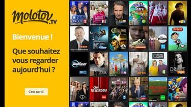 Le service propose les programmes de toutes les chaînes gratuites avec une interface de type Netflix