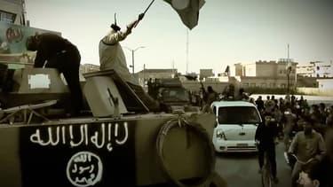Des images de propagande montrant des membres du groupe terroriste Etat islamique en Irak.