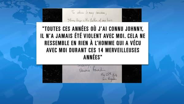 La lettre adressée à TMZ par Vanessa Paradis, pour prendre la défense de son ex-compagnon Johnny Depp.
