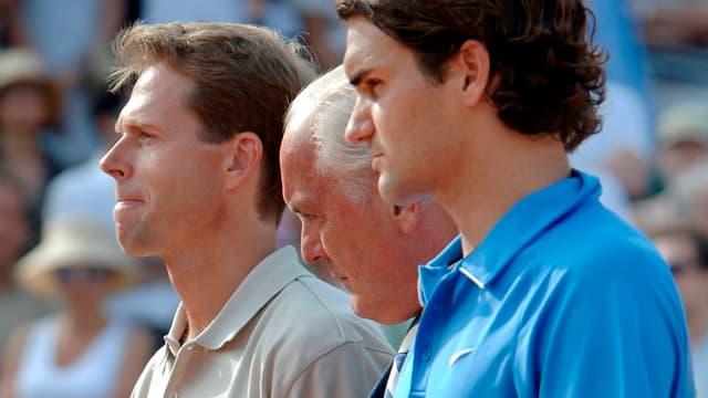 Roger Federer et Stefan Edberg