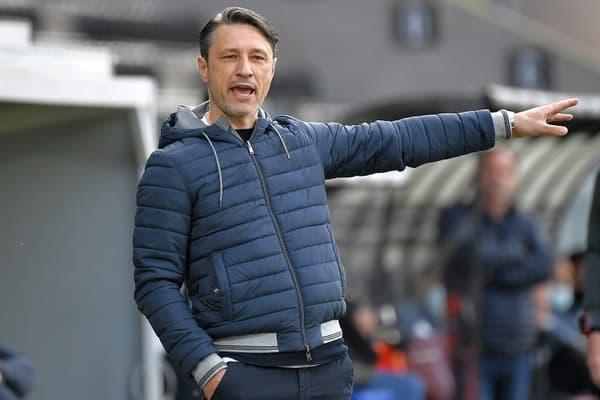 L'entraîneur croate de Monaco Niko Kovac, lors du match de Ligue 1 à Angers, le 25 avril 2021
