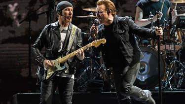 U2 en concert à East Rutherford dans le New Jersey, le 28 juin 2017
