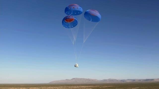 Le retour sur Terre de la capsule Blue Origin