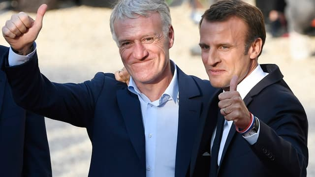 Didier Deschamps et Emmanuel Macron
