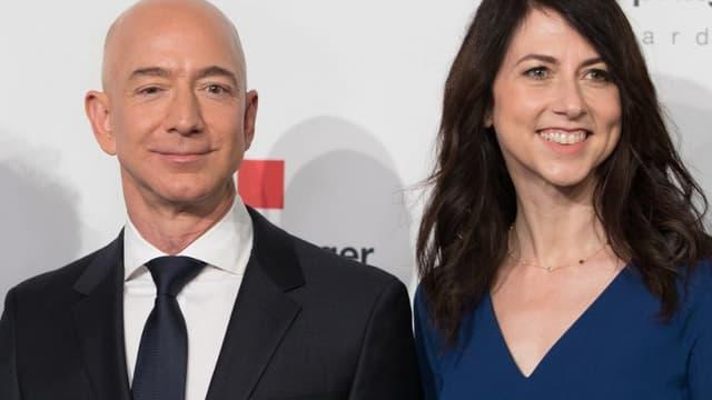 Le PDG d'Amazon, Jeff Bezos, et sa future ex-femme Mackenzie.