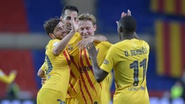 Ousmane Dembélé célèbre la victoire du Barça contre Bilbao