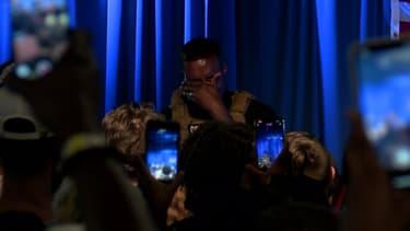 Les larmes de Kanye West en évoquant l'avortement lors de son premier meeting