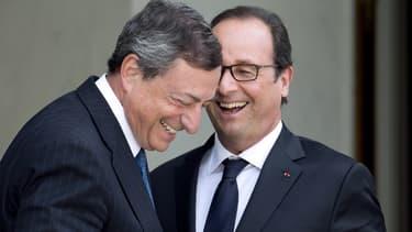 Mario Draghi et François Hollande veulent faire jouer les leviers budgétaires et monétaires.