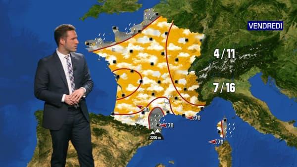 Prévisions météo pour le vendredi 27 novembre 2020