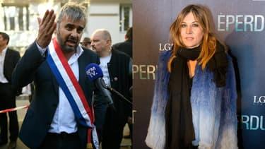 Alexis Corbière et Mathilde Seigner.