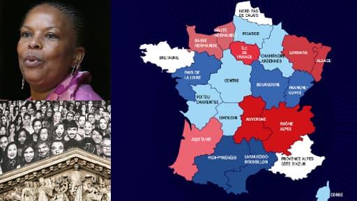 Au menu du jour: la nouvelle carte des régions, la réforme pénale à l'Assemblée, et le dôme du Panthéon redécoré par JR.