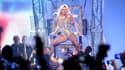 """Britney Spears sur scène pour son show """"Piece Of Me""""."""