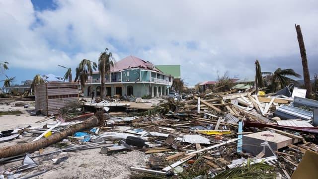 La partie française de l'île de Saint-Martin a été totalement dévastée par l'ouragan Irma (7 septembre)