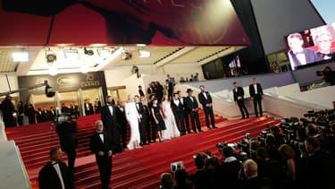 Sur les marches du 70e Festival de Cannes