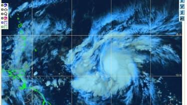 La tempête Kirk,  encore à quelques 800 kilomètres du Sud-Est de la Martinique ce mercredi.
