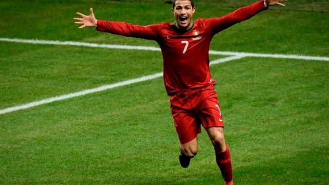Cristiano Ronaldo, auteur d'un triplé face à la Suède mardi soir