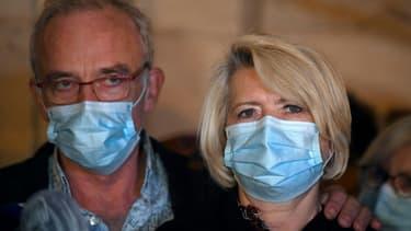 Les parents d'Alexia Daval, Jean-Pierre et Isabelle Fouillot, à la cour d'assises de la Haute-Saône, à Vesoul, le 20 novembre 2020