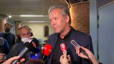 Me Sylvain Cormier, avocat de Karim Benzema, à Versailles le 20 octobre 2021