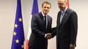 Emmanuel Macron et Recep Erdogan à Bruxelles le 12 juillet.
