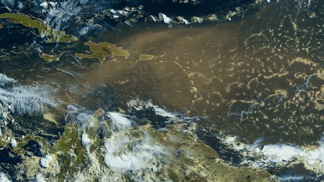 Un important phénomène de brume de sable touche les Caraïbes.