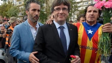 Le président catlan Carles Puigdemon, dimanche jour du referendum.