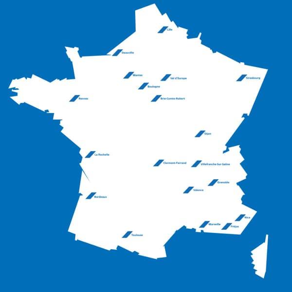 Les 19 premières concessions Alpine en France.