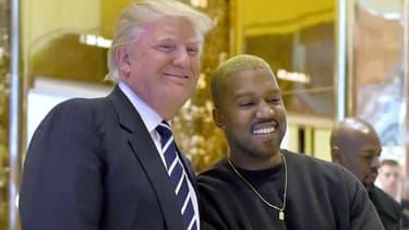 Donald Trump et Kanye West à New York en 2016