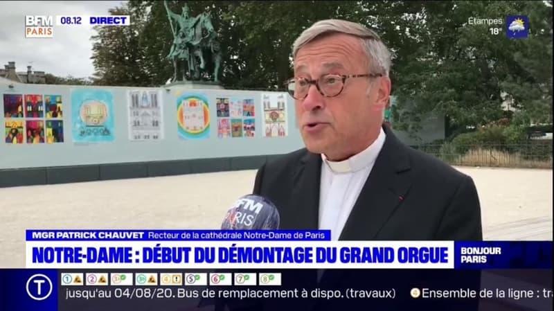 Notre-Dame: Monseigneur Patrick Chauvet, recteur de Notre-Dame de Paris, explique pourquoi le grand orgue doit être démonté