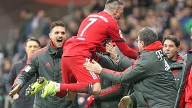 Franck Ribéry, ne participera pas à la demi-finale ce mercredi face à Brême.