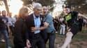 Le maire de Thessalonique, 2e ville du pays, est agressé par de supposés membres de l'extrême droite lors d'un rassemblement, le 19 mai 2018.