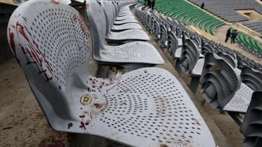 Le stade de Port-Saïd, où 74 personnes ont péri en février 2012 lors d'émeutes déclenchées à la fin d'une rencontre de football. Un tribunal égyptien a confirmé samedi la condamnation à la peine capitale à l'encontre de 21 supporters de football pour leur