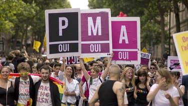 Image d'illustration - une manifestation en faveur de la PMA datée de 2013