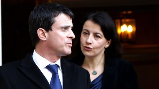 Manuel Valls, ici à la sortie du conseil des ministres du 20 février avec Cécile Duflot, refuse de rentrer dans la polémique.