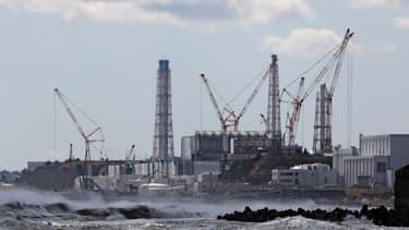 Vue de la centrale nucléaire de Fukushima Daiichi le 11 mars 2020