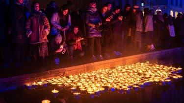 Des lumignons allumés à Lyon pour la Fête des Lumières en 2019.