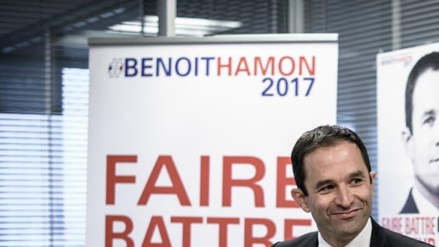 Benoît Hamon lors d'une conférence de presse à Paris le 7 novembre dernier.