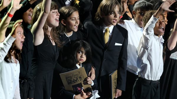 Les enfants de Michael Jackson en septembre 2009.