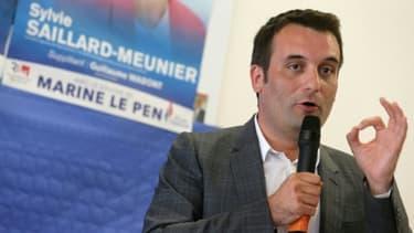 Le vice-président du Front national Florian Philippot à Laon, dans le nord-est de la France