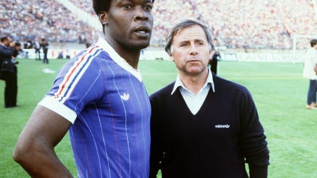 Marius Trésor et Michel Hidalgo en 1982