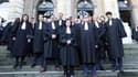 Les avocats se sont réunis devant le Palais de Justice de Paris