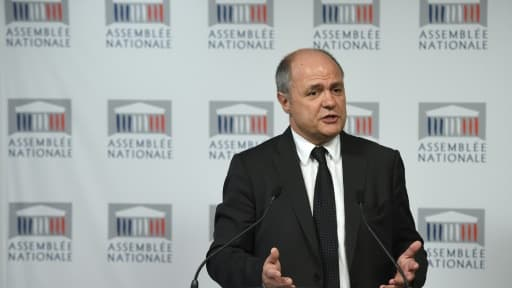 Le président du groupe socialiste à l'Assemblée nationale Bruno Le Roux, le 21 septembre 2015 à Paris