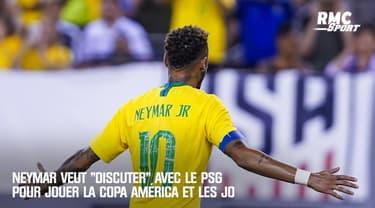 """PSG : Neymar veut """"discuter avec le club"""" pour jouer les JO et la Copa América"""