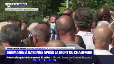 Gérald Darmanin rencontre les collègues de Philippe Monguillot, le chauffeur de bus de Bayonne mort après une agression