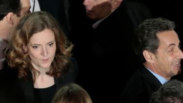Nicolas Sarkozy venu soutenir lundi à Paris NKM à son meeting de campagne