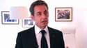 Nicolas Sarkozy lors de ses voeux.