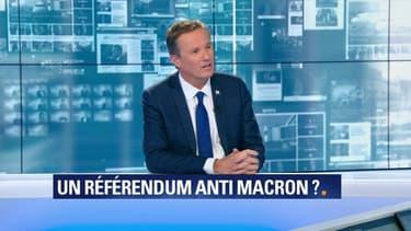 """Macron félicité par le petit-fils de Gaulle: pour Nicolas Dupont-Aignan, """"cette petite scénette de communication politique ne trompera pas les Français"""""""