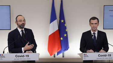 Edouard Philippe et Olivier Véran.