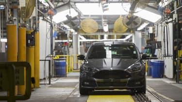 Une Ford Focus provenant de l'usine Ford du Michigan