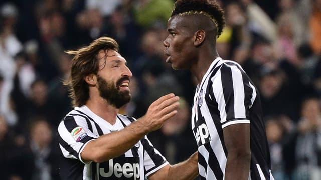 Paul Pogba et Andrea Pirlo (Juventus)