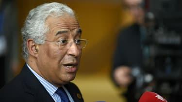 Le Premier ministre portugais Antonio Costa répond aux questions des journalistes lors d'un sommet européen, le 9 mars 2017 à Bruxelles. (Photo d'illustration)